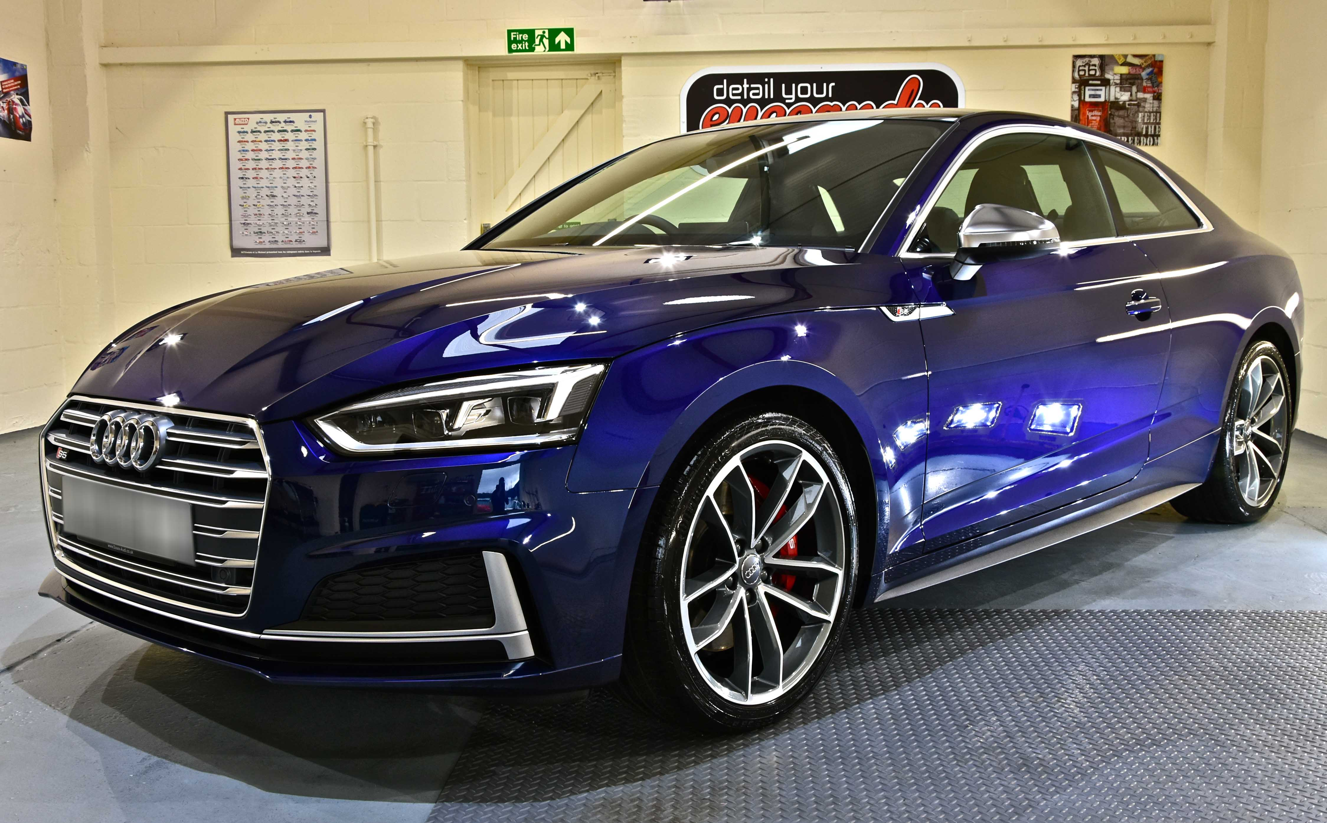 Audi S5 New Car Enhancement and Protection Detail with Gtechniq Crystal Serum Light and EXOv3
