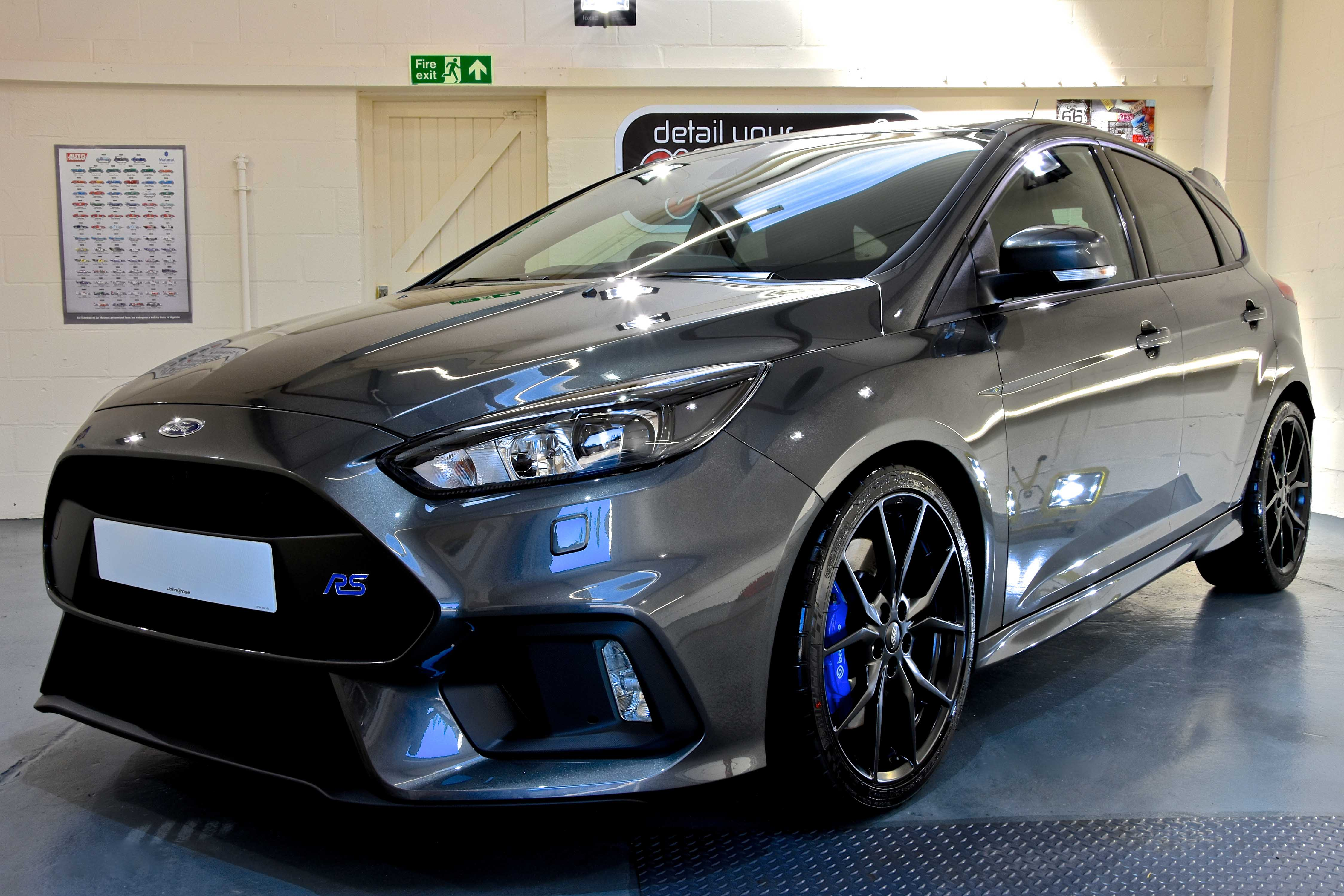 Ford focus RS New Car Enhancement and Protection Detail with Gtechniq Crystal Serum Light and EXOv2
